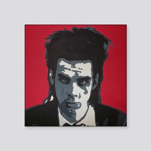 "Nick Cave Acrylic Painting Square Sticker 3"" x 3"""