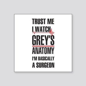 Greys Anatomy trust me black Sticker