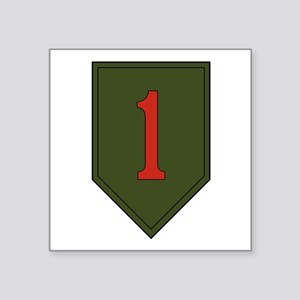 "1st Infantry Division Square Sticker 3"" x 3"""