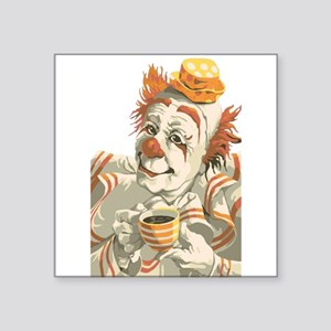 Coffee and Clown Sticker