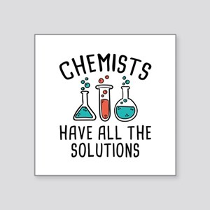 "Chemists Square Sticker 3"" x 3"""