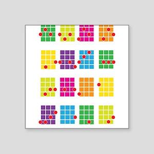 Ukulele Chords Stickers - CafePress