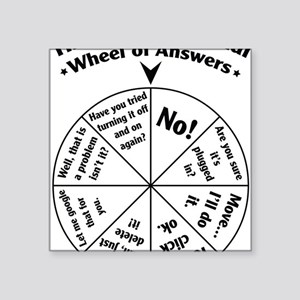 "IT Professional Wheel of An Square Sticker 3"" x 3"""