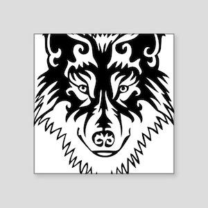 df7b85487c346 Tribal Wolf 2 Square Sticker 3