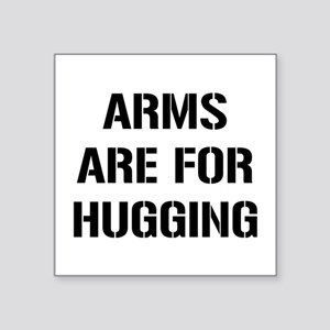 "Arms Hugging Square Sticker 3"" x 3"""