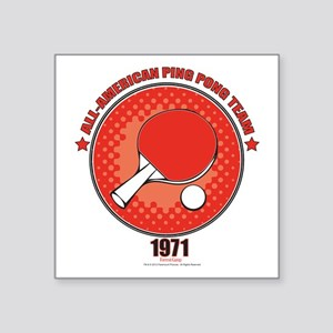 "Ping Pong Square Sticker 3"" x 3"""