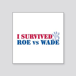 "Roe vs Wade (hand) Square Sticker 3"" x 3"""