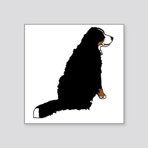 "Sitting Bernese Mountain Do Square Sticker 3"" x 3"""
