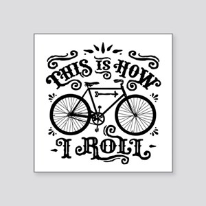 """Funny Cycling Square Sticker 3"""" ..."""