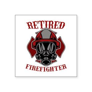 Retired Firefighter Proud Firemen Gift Sticker