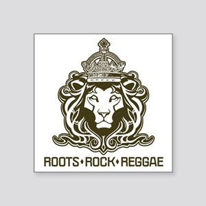 "roots rock reggae qr2 Square Sticker 3"" x 3"""