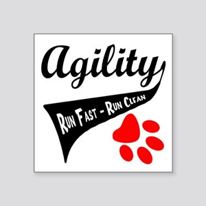"Agility Tail Square Sticker 3"" x 3"""