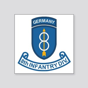 "Army-8th-Infantry-Div-Germa Square Sticker 3"" x 3"""