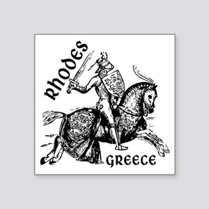 "2-rhodes_knight_t_shirt Square Sticker 3"" x 3"""