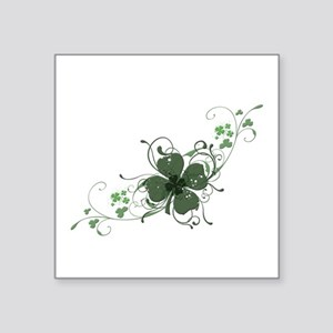 "Elegant Shamrock Design Square Sticker 3"" x 3"""