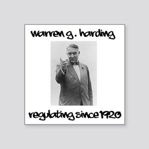 "warren g Square Sticker 3"" x 3"""