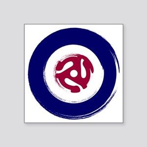 "Retro Mod Target with 45 rp Square Sticker 3"" x 3"""
