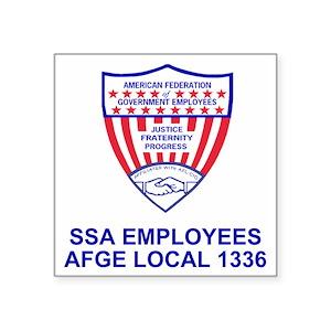 AFGE1336Crest Square Sticker 3