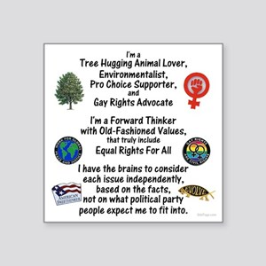 "independent_thinker_2d_tran Square Sticker 3"" x 3"""