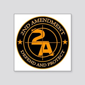 "2ND Amendment 3 Square Sticker 3"" x 3"""
