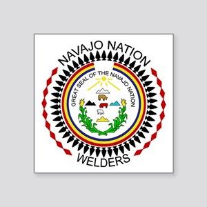 "Navajo Nation Welders Square Sticker 3"" x 3"""