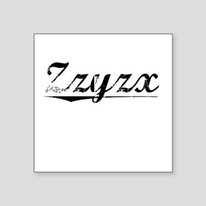 "Zzyzx, Vintage Square Sticker 3"" x 3"""
