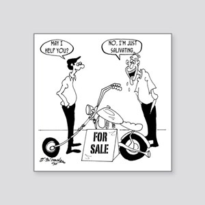 "6811_motorcycle_cartoon Square Sticker 3"" x 3"""