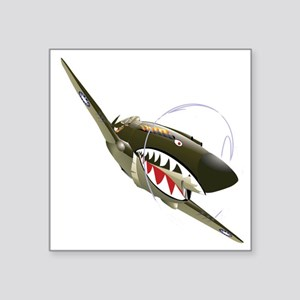 "Flying Tigers Square Sticker 3"" x 3"""