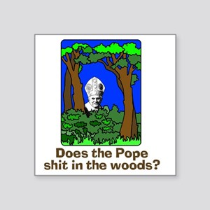 Bear Shitting In Woods Stickers - CafePress