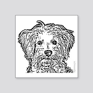"Schnoodle_bw Square Sticker 3"" x 3"""