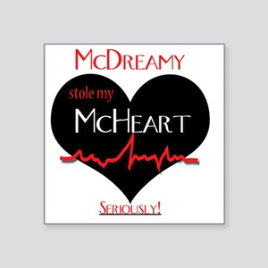 "McDreamy Square Sticker 3"" x 3"""