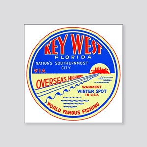 Key West, Florida Untrimmed Sticker