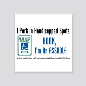 "handicappedOne Square Sticker 3"" x 3"""
