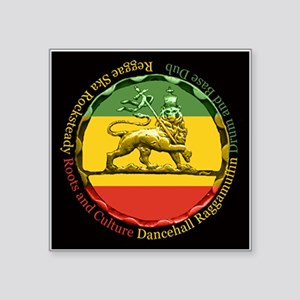 Rasta Reggae Lion of Judah Square Sticker 3""