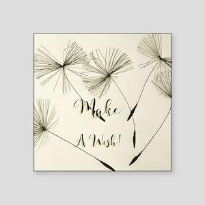 Make A Wish Square Stickers - CafePress