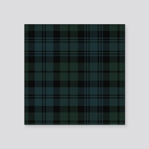 "Campbell Scottish Tartan Pl Square Sticker 3"" x 3"""
