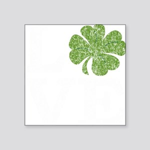 "love_shamrock_white Square Sticker 3"" x 3"""