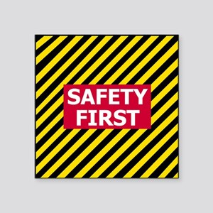 "3-Safety-First-Tile Square Sticker 3"" x 3"""