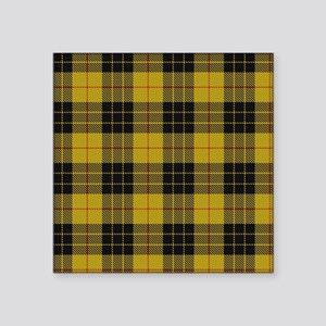 "McCleod Tartan Plaid Square Sticker 3"" x 3"""