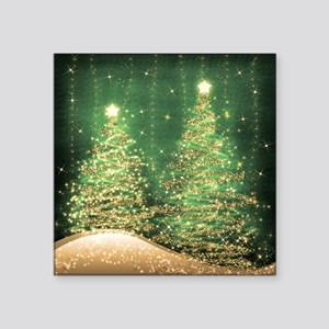 "Sparkling Christmas Trees G Square Sticker 3"" x 3"""
