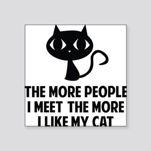 "peopleCat1A Square Sticker 3"" x 3"""