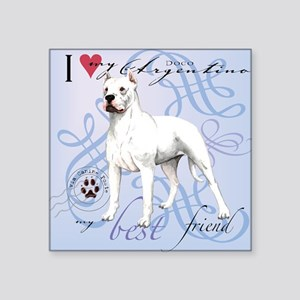 Dogo Argentino Square Stickers Cafepress