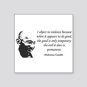 Gandhi Rectangle Sticker