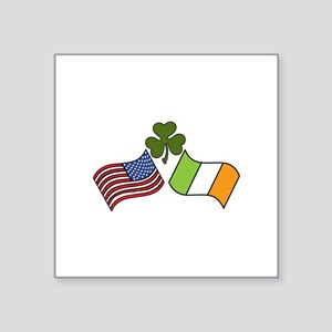 American Irish Flag Sticker