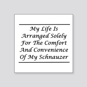 "Schnauzer Convenience Square Sticker 3"" x 3"""