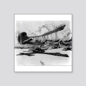 Hydroplanes at rest on the beach - Joseph Pennell