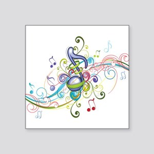 "Music in the air Square Sticker 3"" x 3"""