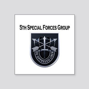 "5th Special Forces Group Square Sticker 3"" x 3"""