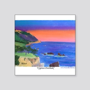 "Cypress Overlook Square Sticker 3"" x 3"""