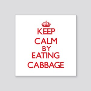 Keep calm by eating Cabbage Sticker